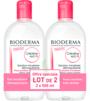 Crealine Ts H2o Solution Micellaire Sans Parfum Nettoyante Apaisante 2fl/500ml à UGINE