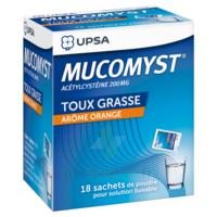 MUCOMYST 200 mg Poudre pour solution buvable en sachet B/18 à UGINE