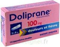 DOLIPRANE 100 mg Suppositoires sécables 2Plq/5 (10) à UGINE