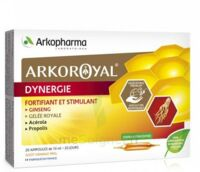 Arkoroyal Dynergie Ginseng Gelée Royale Propolis Solution Buvable 20 Ampoules/10ml à UGINE