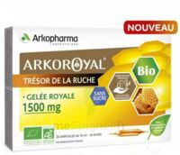 Arkoroyal Gelée Royale Bio Sans Sucre 1500mg Solution Buvable 20 Ampoules/10ml à UGINE