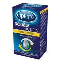 Optone Double Action Solution Oculaire Yeux Irrités Fl/10ml à UGINE