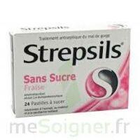 STREPSILS FRAISE SANS SUCRE, pastille édulcorée à l'isomalt, au maltitol et à la saccharine sodique à UGINE