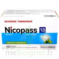 Nicopass 1,5 mg Pastille sans sucre menthe fraîcheur Plq/96 à UGINE
