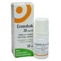 CROMABAK 20 mg/ml, collyre en solution à UGINE