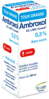AMBROXOL EG LABO CONSEIL 0,3 POUR CENT SANS SUCRE, solution buvable édulcorée au cyclamate de sodium et au sorbitol à UGINE