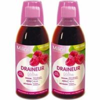 Milical Draineur Ultra Solution Buvable Framboise 2*500ml à UGINE