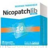 NICOPATCHLIB 14 mg/24 h Dispositifs transdermiques B/28 à UGINE