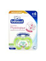 Bebisol Slim - Sucette physiologique silicone jour +6mois vert T2 à UGINE