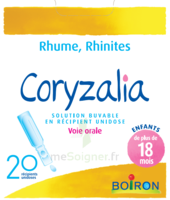 Boiron Coryzalia Solution buvable unidose B/20 à UGINE